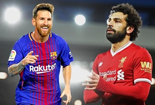 Messi đã vươn lên trước Salah với 1 bàn nhiều hơn
