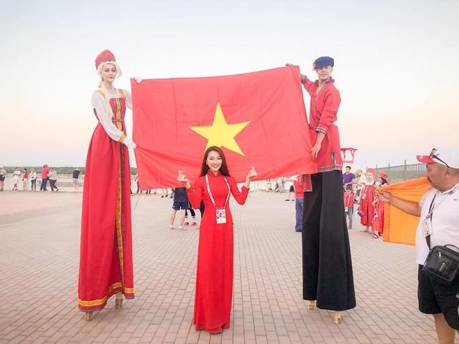 Lá cờ đỏ sao vàng trong niềm tự hào Việt Nam giữa lòng World Cup 2018