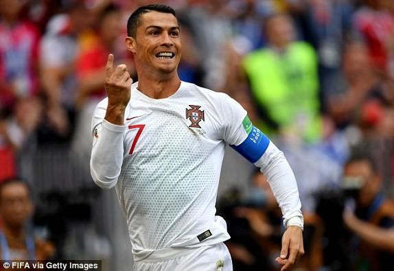 Ronaldo đang tạm vươn lên dẫn đầu danh sách Vua phá lưới với 4 bàn sau 2 trận