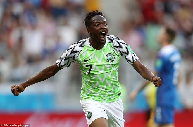 Musa ghi cú đúp cho Nigeria trước Iceland