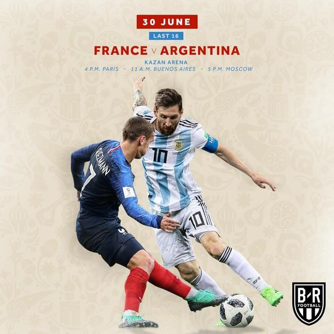 Messi và Argentina sẽ phải gặp Pháp của Griezmann