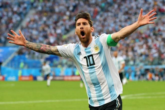 Messi ghi bàn đầu tiên của mình ở World Cup 2018