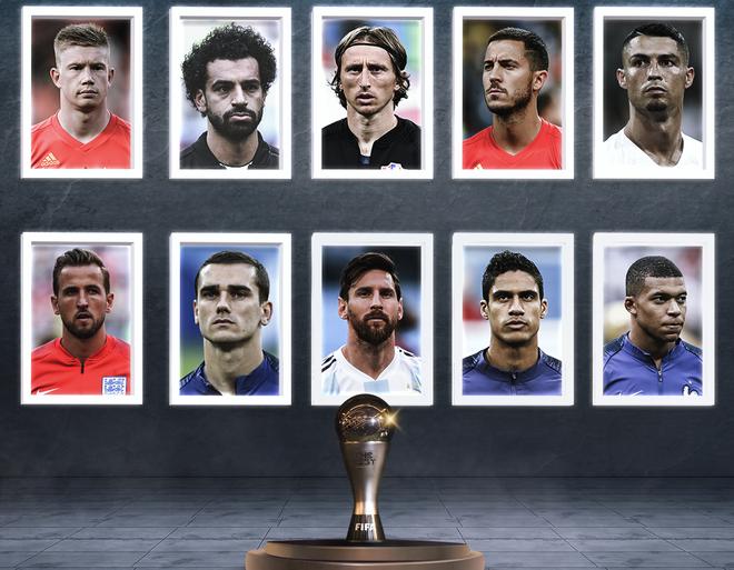 10 ứng cử viên cạnh tranh giải The Best 2018