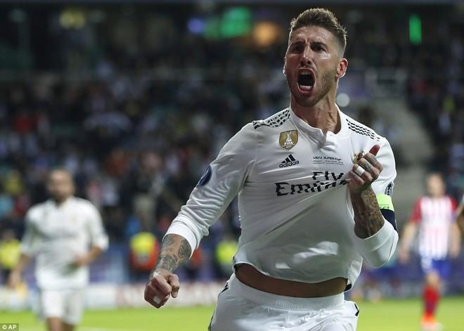 Ramos ghi bàn nhưng cũng là nguyên nhân khiến hàng thủ đội bóng áo trắng thủng lỗ chỗ
