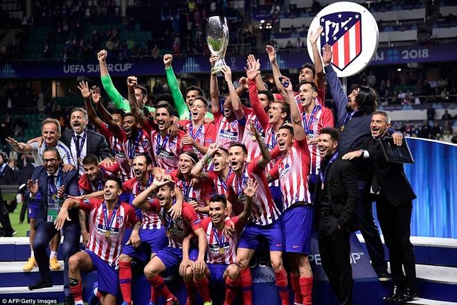 Atletico Madrid phấn khích đăng quang