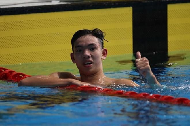 Huy Hoàng là tài năng sáng giá của bơi lội Việt Nam