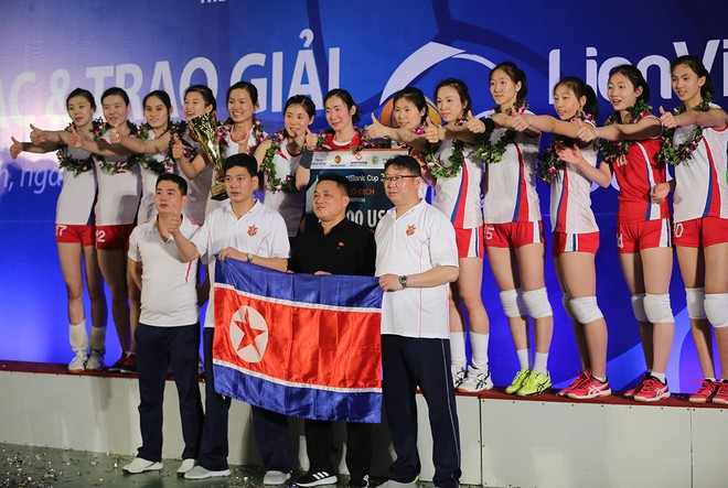 Tuyển nữ Triều Tiên vô địch giải bóng chuyền Quốc tế tại Bắc Ninh ảnh 9