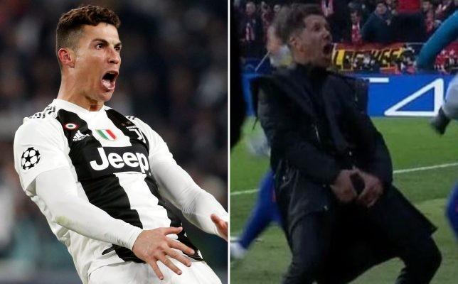 Ronaldo sẽ bị phạt vì nhại lại cách ăn mừng xấu xí của HLV Simeone