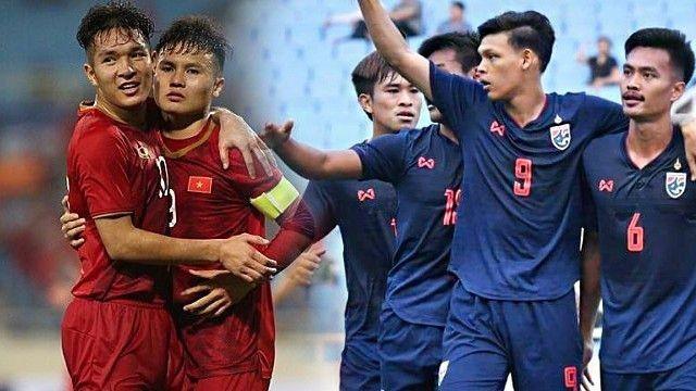 Thái Lan (phải) dường như đang nóng lòng muốn trả món nợ thua 0-4 của đội tuyển U23 cách đây chưa lâu
