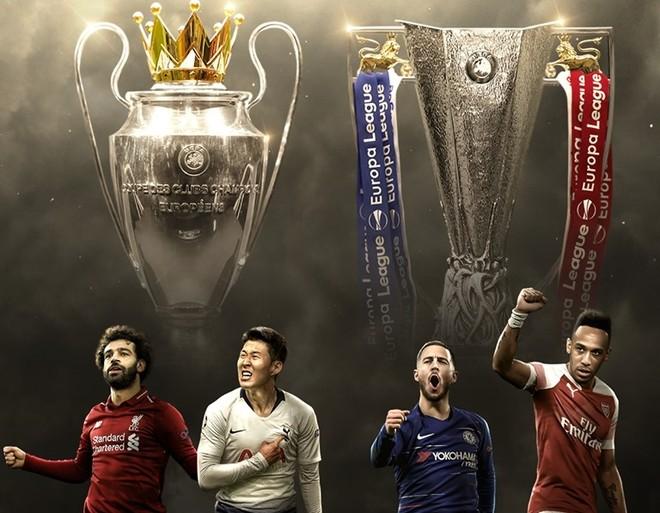 Bóng đá Anh thống trị hoàn toàn cúp châu Âu mùa này