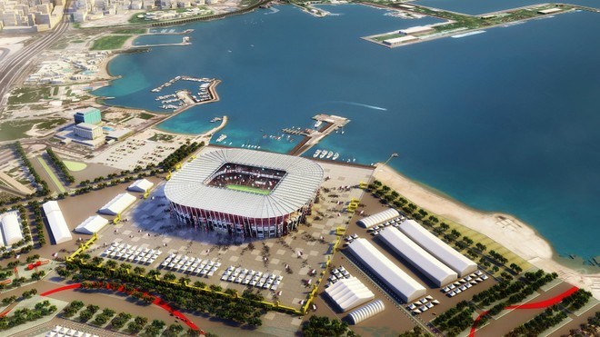 Một trong những SVĐ được xây mới ở Qatar để phục vụ World Cup 2022