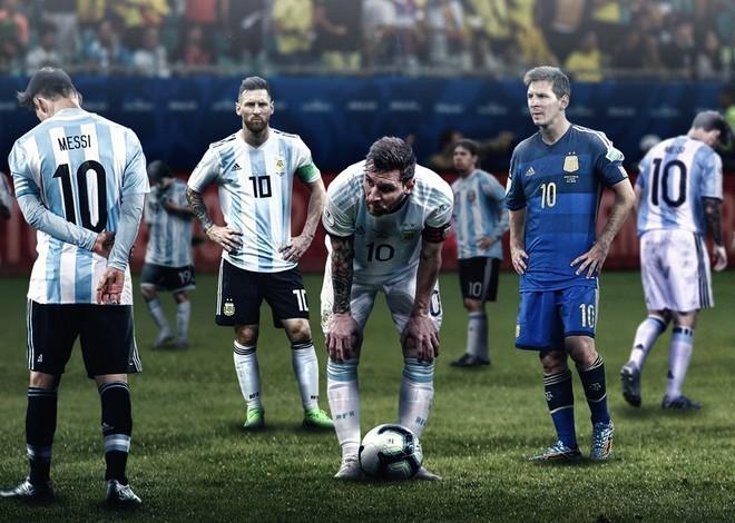 Messi thất vọng là hình ảnh không xa lạ gì trong màu áo Argentina