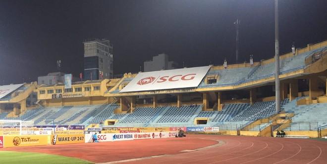 Khán đài sân Hàng Đẫy ở trận Hà Nội FC tiếp Viettel