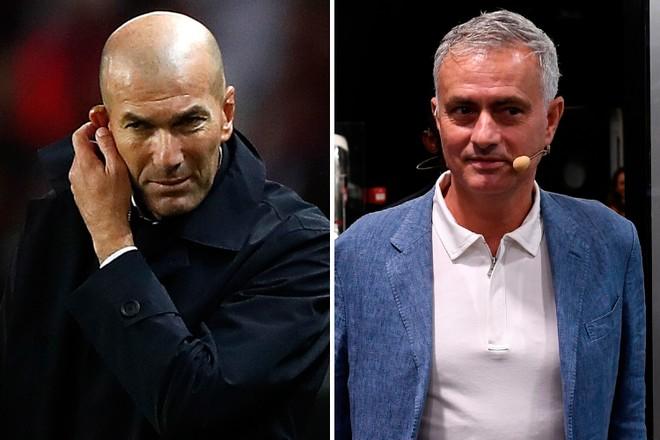 Mourinho (phải) liệu có trở lại sân Bernabeu thay thế Zidane?