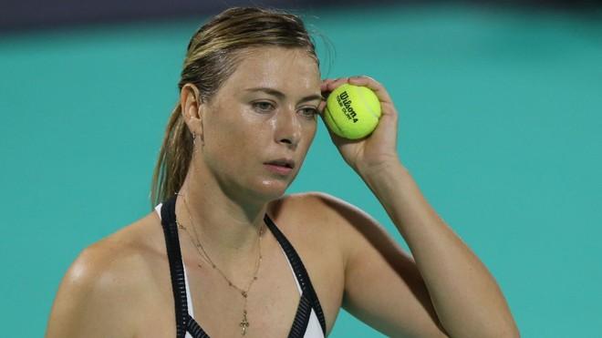 Maria Sharapova xuống phong độ một cách thê thảm