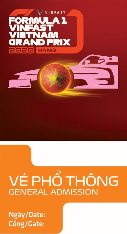 Xem các mẫu thiết kế vé đầy tinh hoa của chặng đua F1 Hà Nội