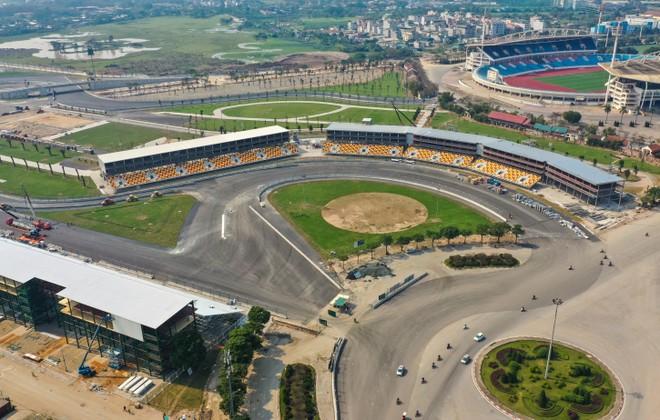 Đường đua F1 Hà Nội nhìn từ trên cao