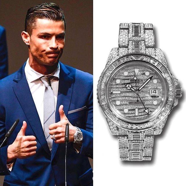 Ronaldo và chiếc Rolex GMT Master Ice của mình