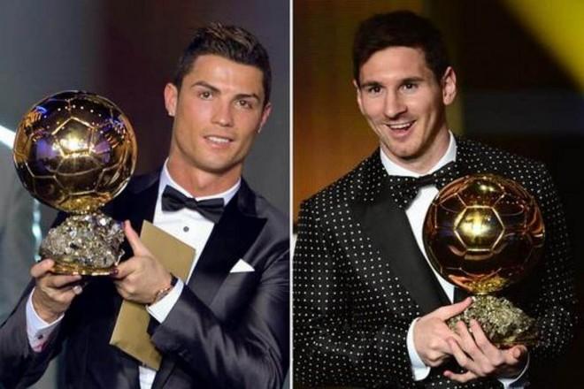 Ronaldo và Messi đã sở hữu tổng cộng 11 danh hiệu Quả bóng Vàng châu Âu