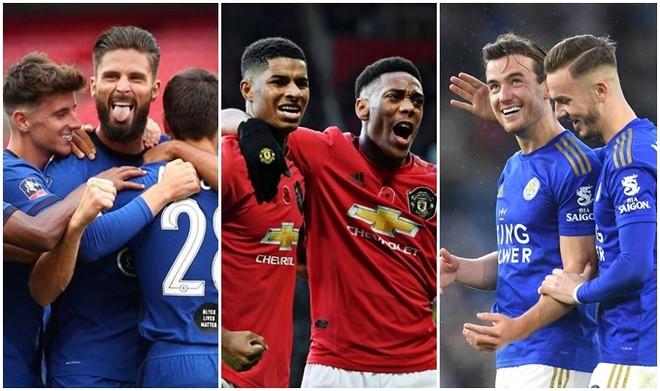 Cuộc đua top 4 giữa Chelsea, M.U và Leicester hấp dẫn đến phút chót
