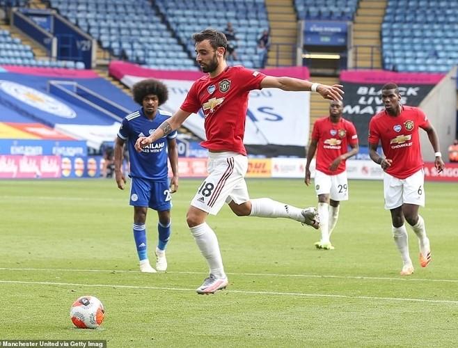 Bruno Fernandes đá quả 11m thành công thứ 14 cho M.U trong mùa giải 2019/20