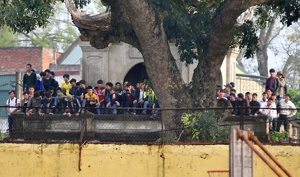 Người Nghệ An leo cây, trèo lên di tích lịch sử xem bóng đá ảnh 3