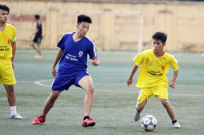 Kết quả, hình ảnh lượt trận cuối vòng bảng giải bóng đá học sinh THPT Hà Nội 2015 ảnh 24