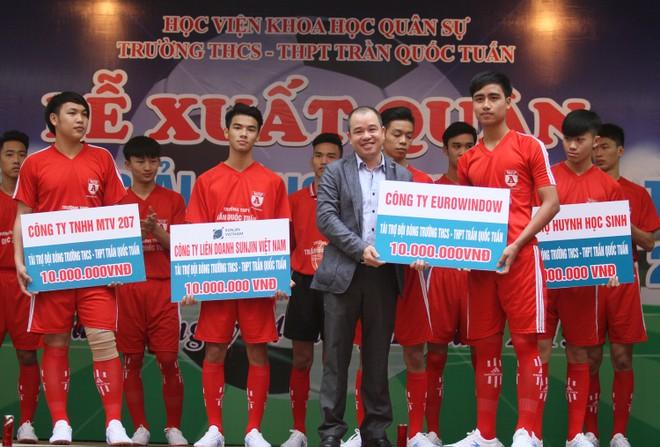 Tưng bừng xuất quân dự chung kết giải bóng đá học sinh THPT Hà Nội 2015 ảnh 7