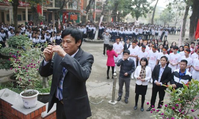 Tưng bừng xuất quân dự chung kết giải bóng đá học sinh THPT Hà Nội 2015 ảnh 9