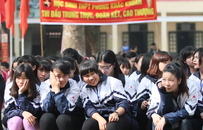 Tưng bừng xuất quân dự chung kết giải bóng đá học sinh THPT Hà Nội 2015 ảnh 13