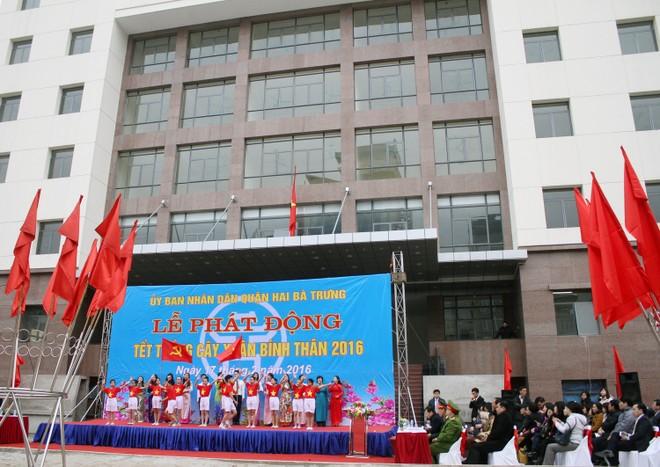UBND quận Hai Bà Trưng phát động Tết trồng cây 2016 ảnh 1