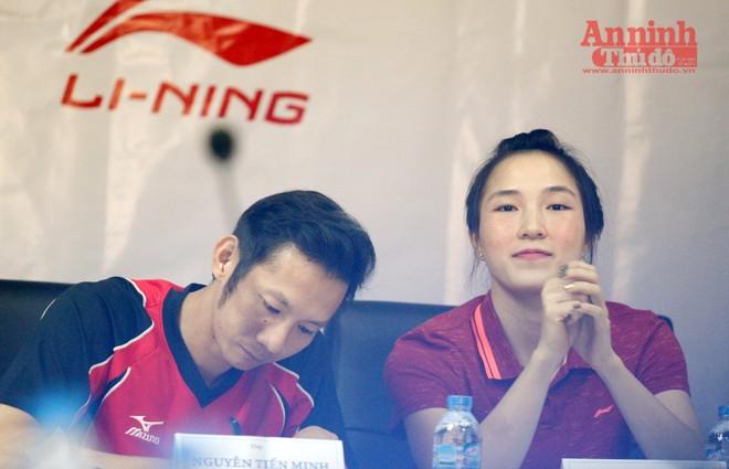 Hoa khôi cầu lông đỏ mặt khi được hỏi về mối tình với Nguyễn Tiến Minh
