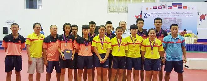 Đội tuyển bóng bàn trẻ Việt Nam kết thúc giải với 4 HCB, 3 HCĐ