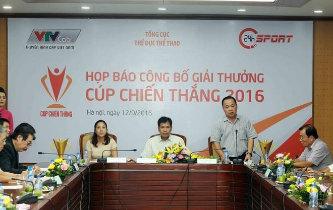 Ban tổ chức thông tin về Cúp Chiến thắng năm 2016 tại buổi họp báo