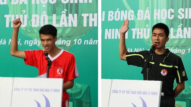 Tưng bừng khai mạc giải bóng đá học sinh THPT Hà Nội - Báo ANTĐ 2016 ảnh 4