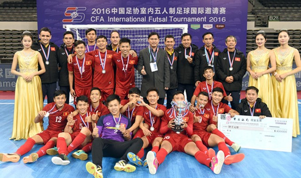 Tuyển Futsal Việt Nam giành Á quân giải Tứ hùng tại Trung Quốc