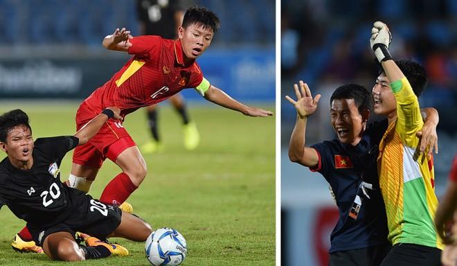 Đội trưởng Tiến Long và thủ thành Duy Dũng góp công lớn trong chiến thắng Thái Lan ở chung kết U15 Đông Nam Á 2017
