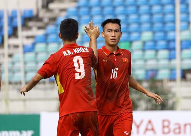 Thắng liền 2 trận, U18 Việt Nam ghi 13 bàn, để lọt lưới 1 bàn, xếp đầu bảng (ảnh MMF)