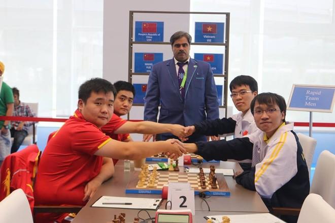 Cờ vua Việt Nam lại thắng Trung Quốc để vô địch AIMAG