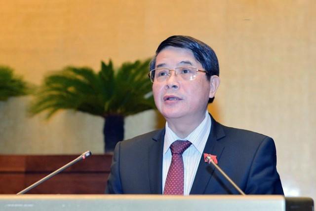 Chủ nhiệm Ủy ban Tài chính, Ngân sách Nguyễn Đức Hải trình bày báo cáo giải trình