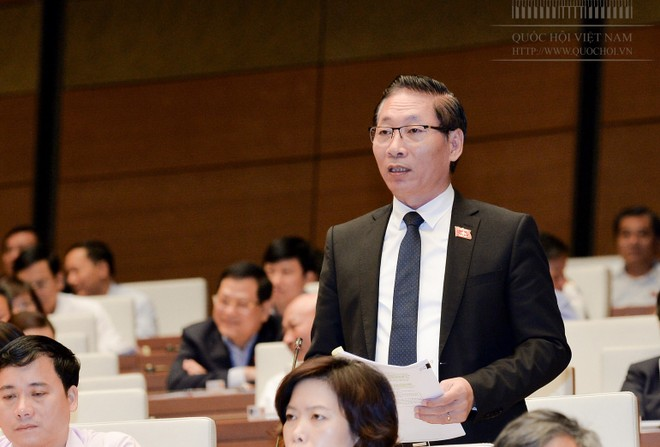 Đại biểu Nguyễn Chiến phát biểu tại phiên thảo luận