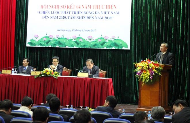 Quang cảnh hội nghị sơ kết 4 năm thực hiện Chiến lược phát triển bóng đá Việt Nam