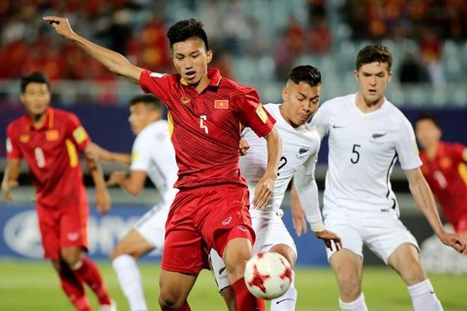 U20 Việt Nam (áo đỏ) tại World Cup U20