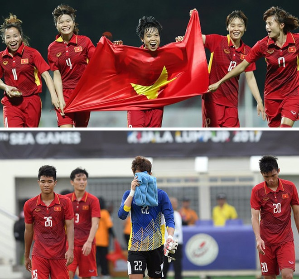 Thành tích và cảm xúc trái chiều giữa tuyển nữ và U22 Việt Nam tại SEA Games 29