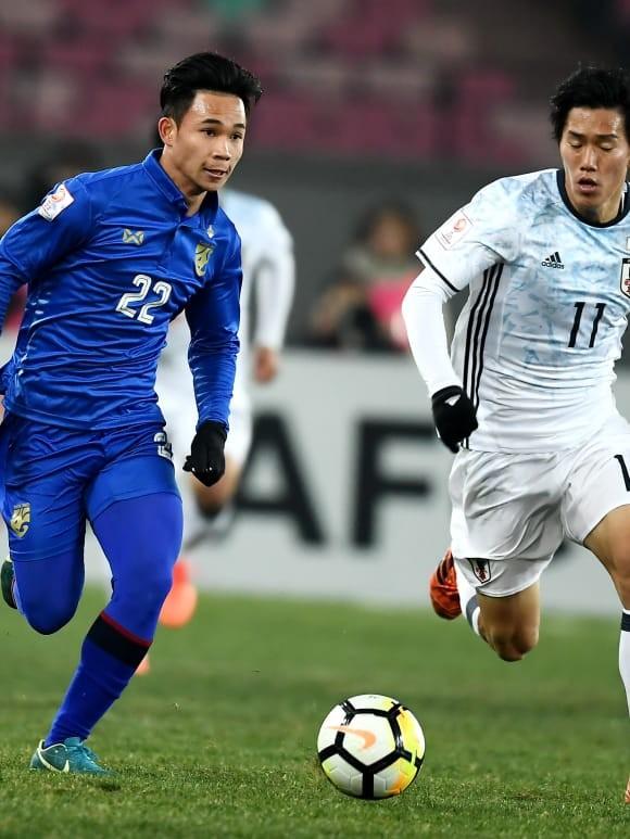 U23 Thái Lan (áo xanh) sớm bị loại sau 2 trận thua liên tiếp