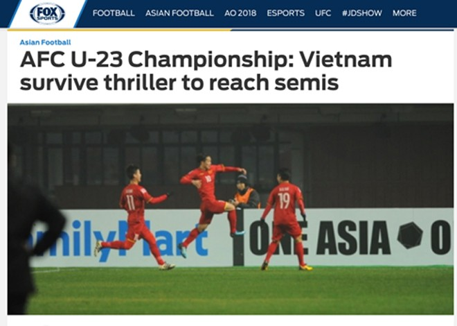 Fox Sports bày tỏ sự ngạc nhiên trước diễn biến theo kịch bản khó tin của trận đấu