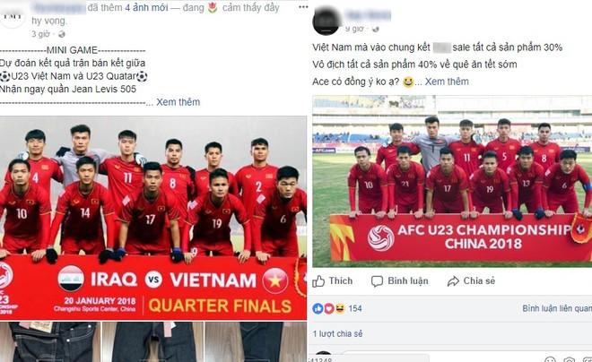 """Các shop bán hàng online đua nhau giảm giá, tổ chức mini """"ăn theo"""" trận đấu của U23 Việt Nam"""