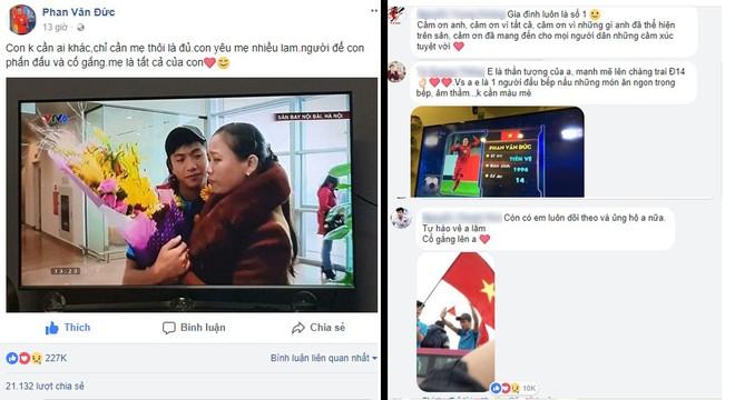 Hơn 2 vạn lượt chia sẻ, cùng hàng ngàn bình luận của cộng đồng mạng bày tỏ sự đồng cảm và động viên Phan Văn Đức