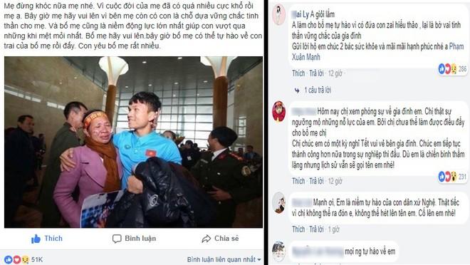 Chia sẻ xúc động của Phạm Xuân Mạnh cùng những lời động viên hậu vệ người Nghệ An