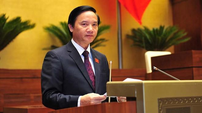 Chủ nhiệm Ủy ban Pháp luật Nguyễn Khắc Định trình bày báo cáo